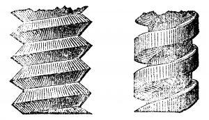 Fig. B. Vis tous matériaux. Catalogue Manufrance.