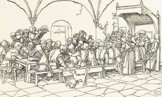 Comme à la cour le jeûne de Carême