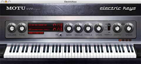 Electric Keys main window