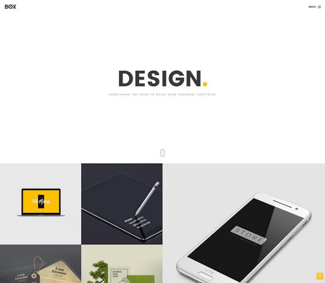 قالب HTML بسيط لعرض الاعمال بطريقة مبتكرة