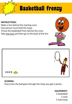 PE fun game station