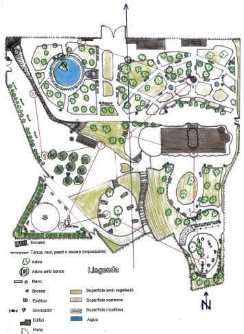 Plànol Parc de Sant Jordi - Recorregut 1