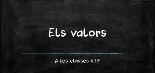 Els valors a les classes d'EF