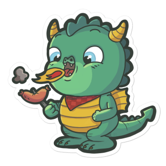 Sticker Dragon Saucisse
