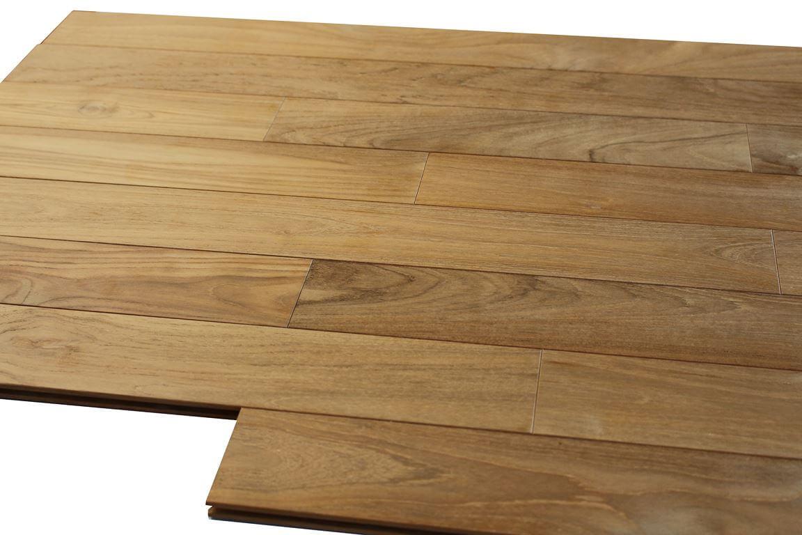 parquet teck massif ideal pour salle de bain 15 x 90 mm
