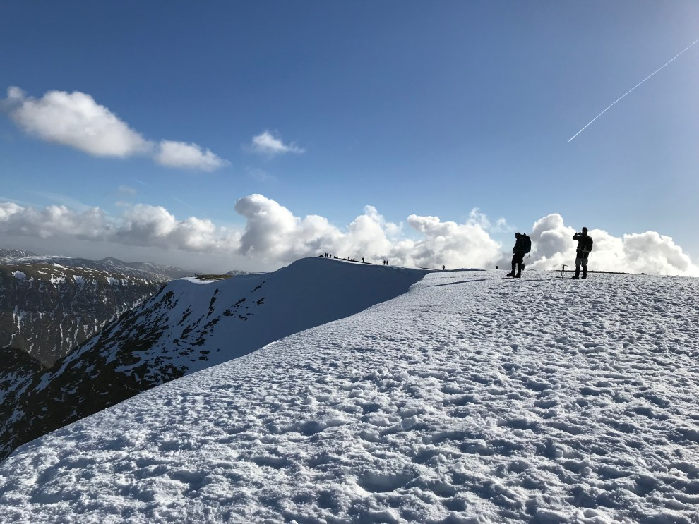 Helvellyn in Winter