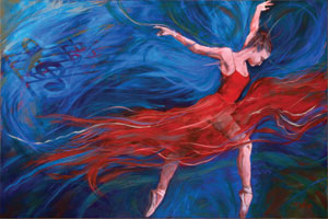 Johanna McCormick, Movement in red & blue