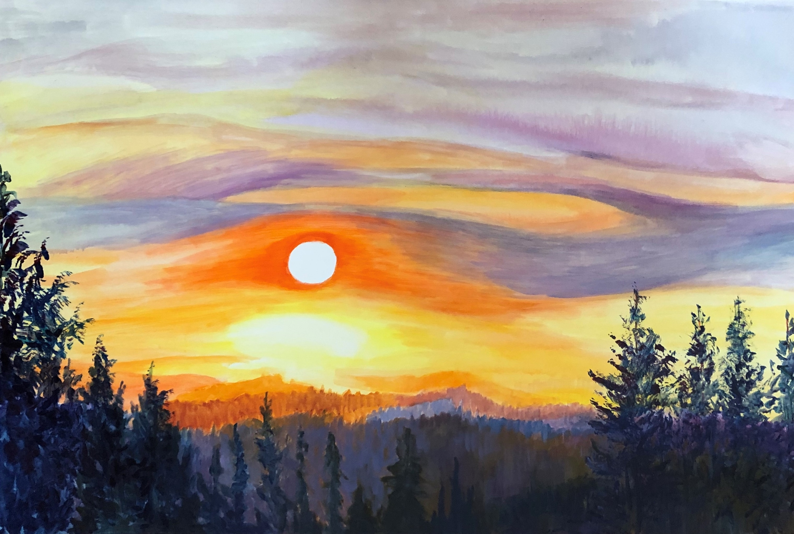 Mountain Sunrise - Linda Curtis