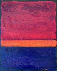 Rothko interpretation #2 - Martine Mahoudeau