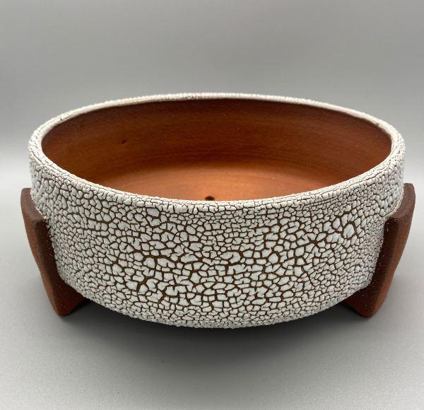 Ceramic Planter in Red Clay and Lichen Glaze - Matthew Stout
