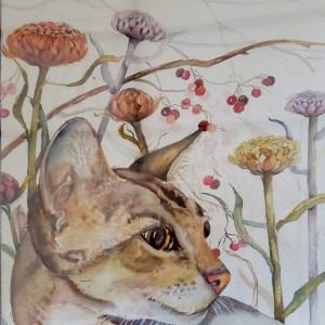 Cat In The Garden - Ann Scobie