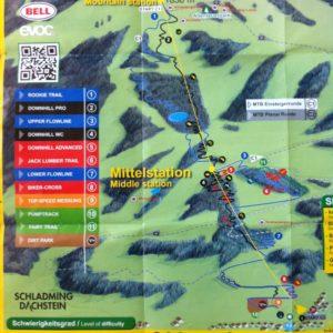 Streckenplan Schladming bike park map