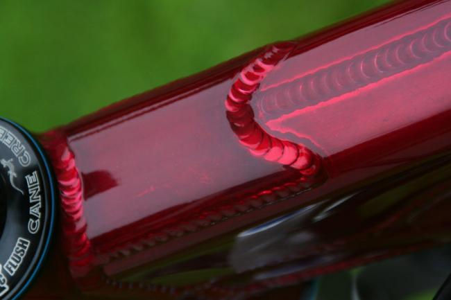 Closeup of bike
