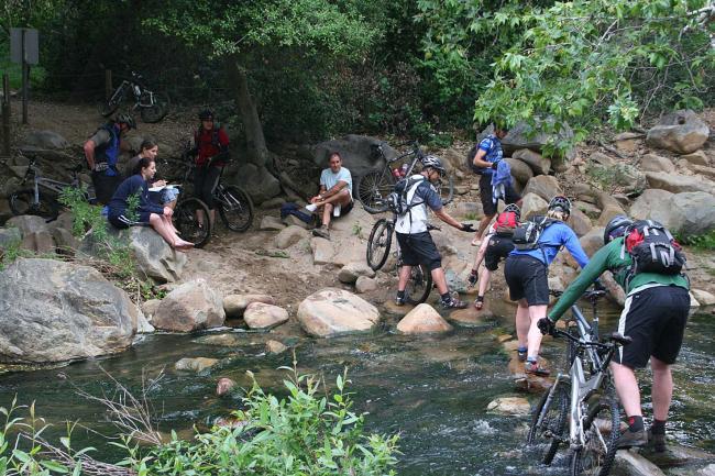 Crossing Escondido Creek