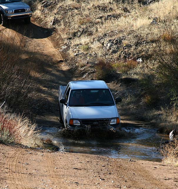 Carvaning to trailhead