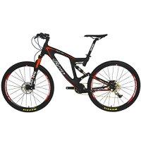 BEIOU® Carbon Dual Suspension Mountain Bicycles All Terrain 27.5 Inch MTB 650B Bike SHIMANO Breaking LTWOO 11 Speed 12.7kg T700 Frame Matte 3K CB22