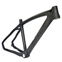 BEIOU 3k Carbon Fiber Mountain Bike Frame T800 Ultralight 26-Inch MTB Matte Black Unibody Internal Cable Routing B024AX