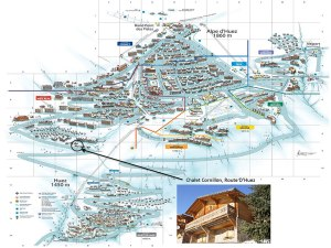 Chalet Cornillon Location on Resort Map