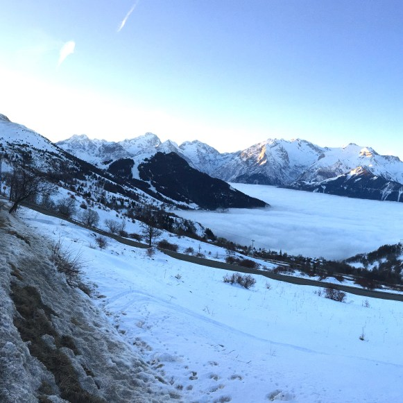 Panorama of the Chalet & the Hairpins