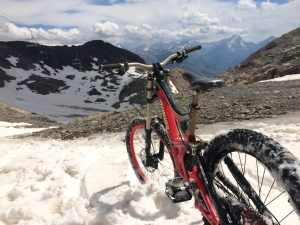 Mountain Bike on Sarenne Glacier LOW RES