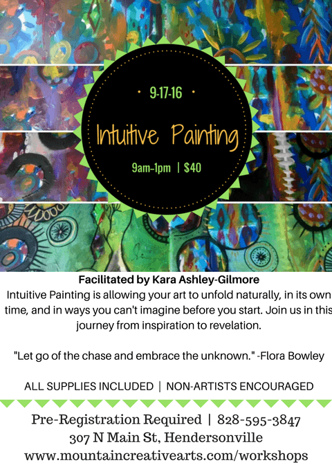 Intuitive Painting Flyer