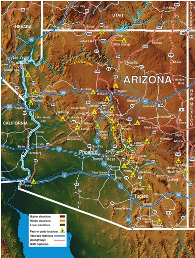 arizona elevation map with cities » Full HD Pictures [4K Ultra ...