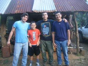 This photo was taken on my brother's trip to Costa Rica. Our friend Jose is the furthest Left.