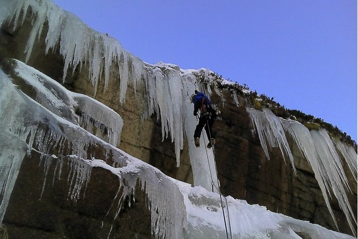 Ice-climbing in the Mournes