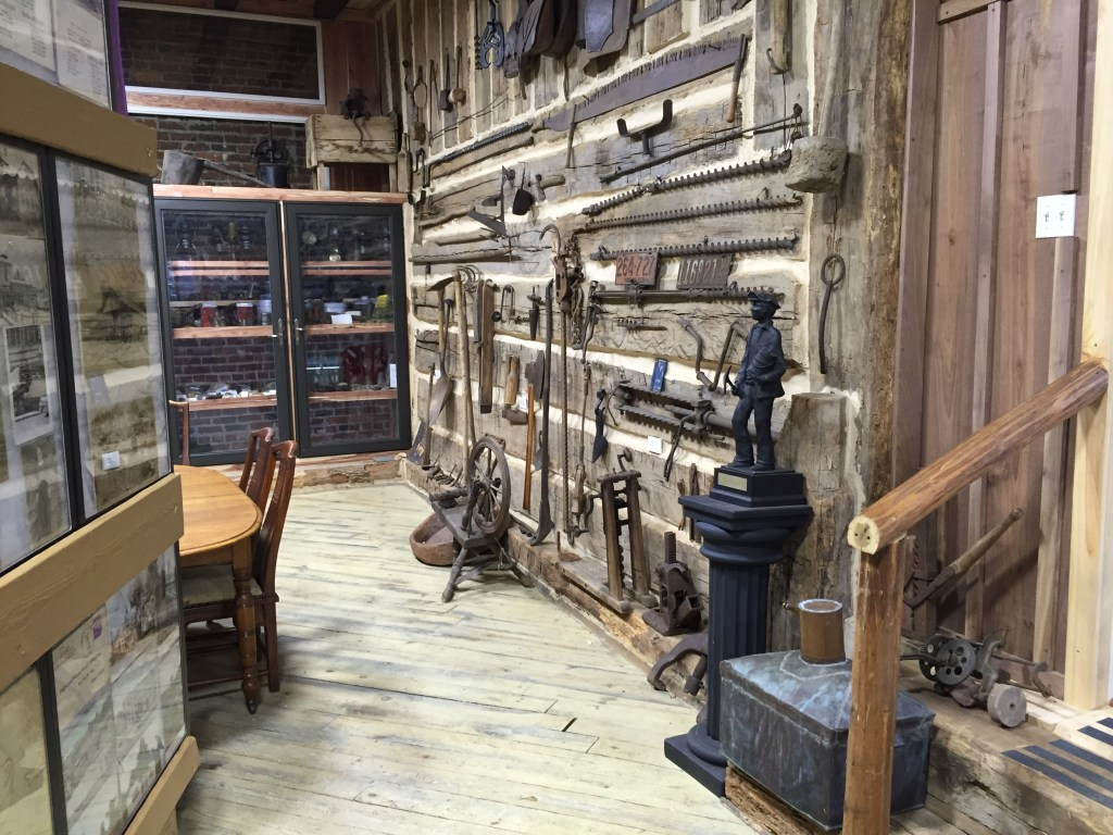 Antique Tools and Display Cases
