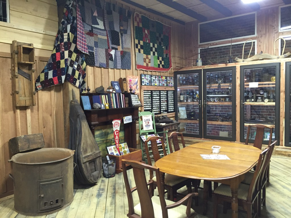 Meeting Table, Scrip, Quilts