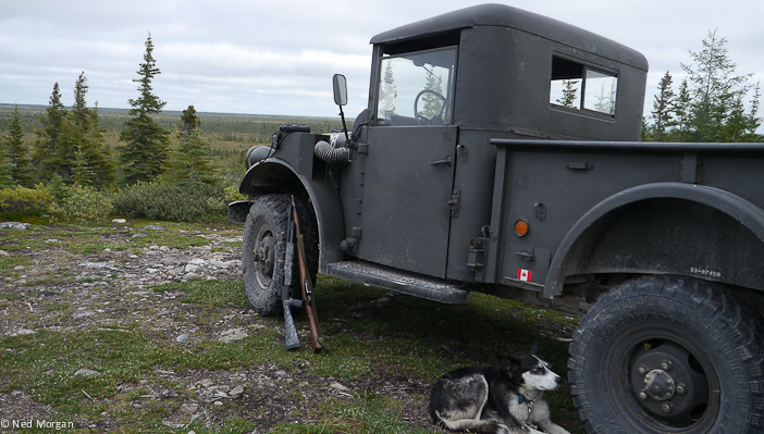 Korean War–era Jeep at the end of the road.