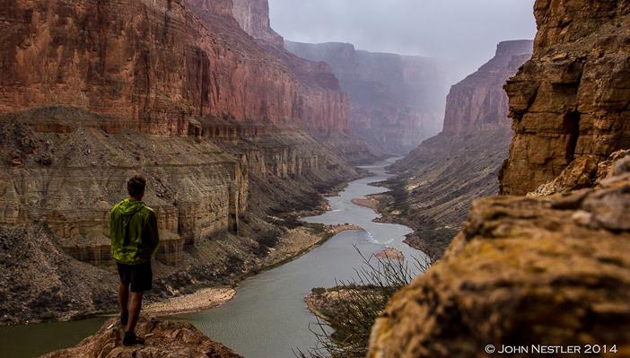 John Nestler looking downstream from Nankoweap. Photo by John Nestler/courtesy Five Ten.