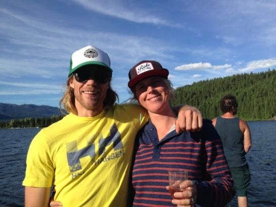 Matt and Lesley. Photo courtesy Helly Hansen.