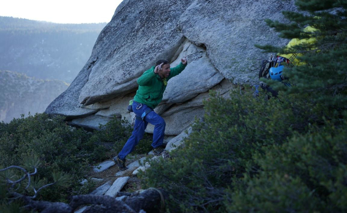 Celebrating the first free ascent of the Dawn Wall. Photo courtesy Patagonia.