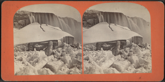 From the Robert N. Dennis collection of stereoscopic photographs of the falls, circa 1870s.