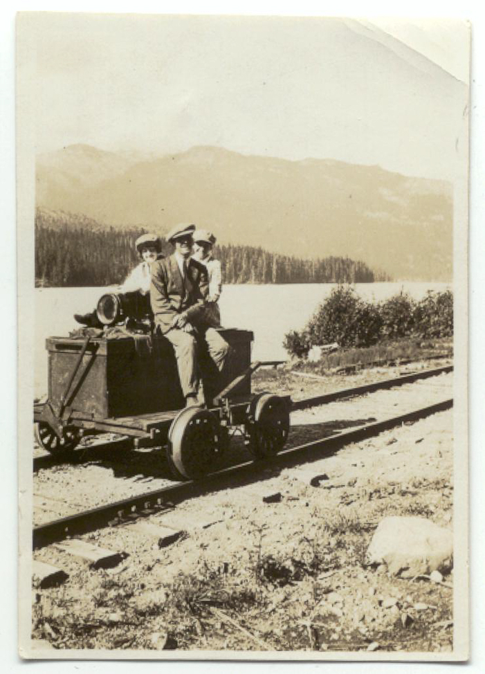 These handcars (powered by pumping the lever at the front) were popular before speeders were introduced, and were sometimes used by those who lived at Alta Lake since they were much faster than walking. Courtesy Whistler Museum.