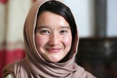 Maryam, one of the senior members on the Bamiyan club team, is studying to be an English teacher. Jenny Nichols photo.
