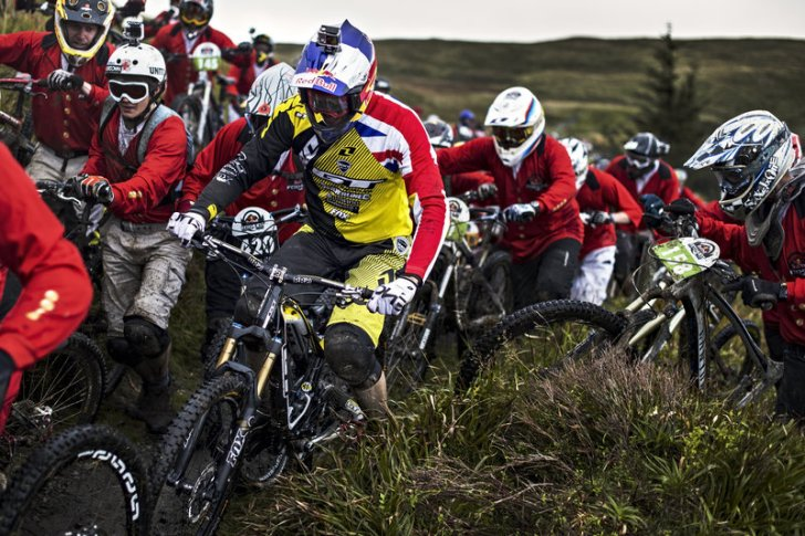 Gee Atherton performs at the Red Bull Foxhunt in Rostrevor, Northern Ireland on October 6 2013.