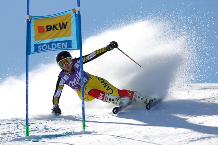 Ski World Cup 2015-2016. Candace Crawford (CAN) slalom gigante. Soelden 24-10-2015 (Photo/ Marco Trovati-Pentaphoto)