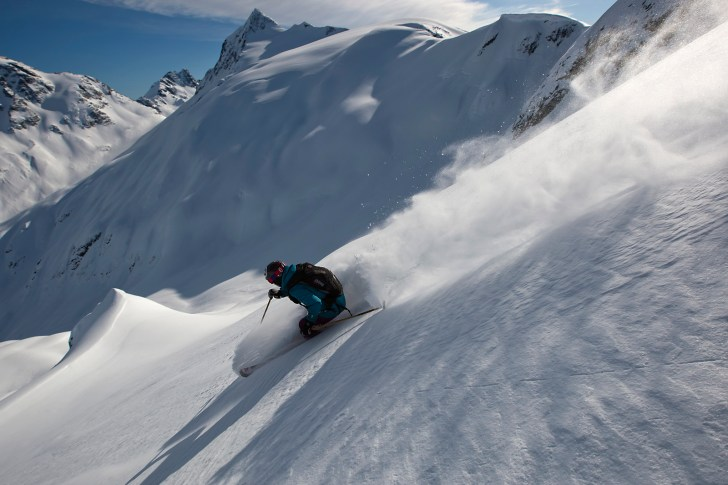 Tatum Monod skiing at Bella Coola Helisking Bella Coola British Columbia
