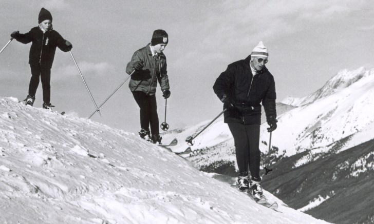 Phillip, Peter and John skiing