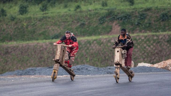 Racing traditional 'Scooter Bikes'_Rwanda, Africa
