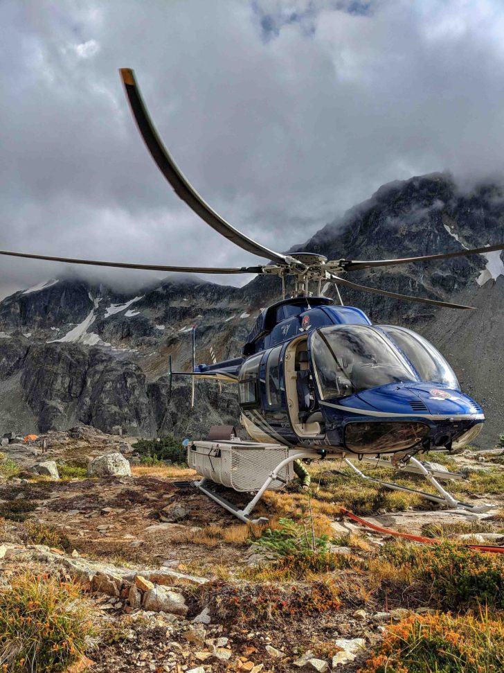 Blackcomb helicopter up near wedgemont