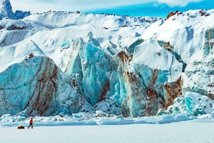 Ice toe of a glacier