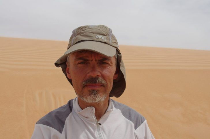 Jukka while crossing the Sahara Desert