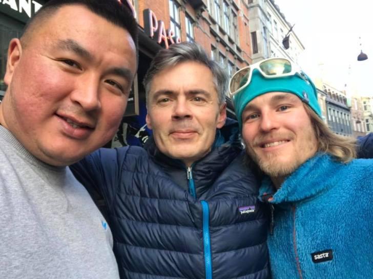 Jukka and his Greenland team
