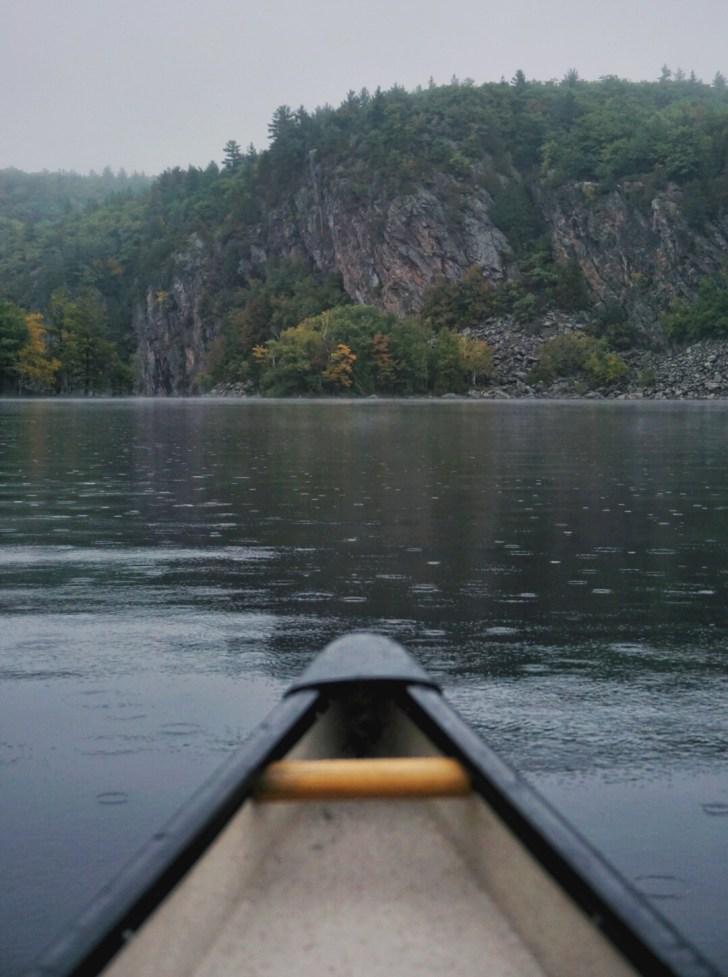 Canoeing on Mazinaw Lake