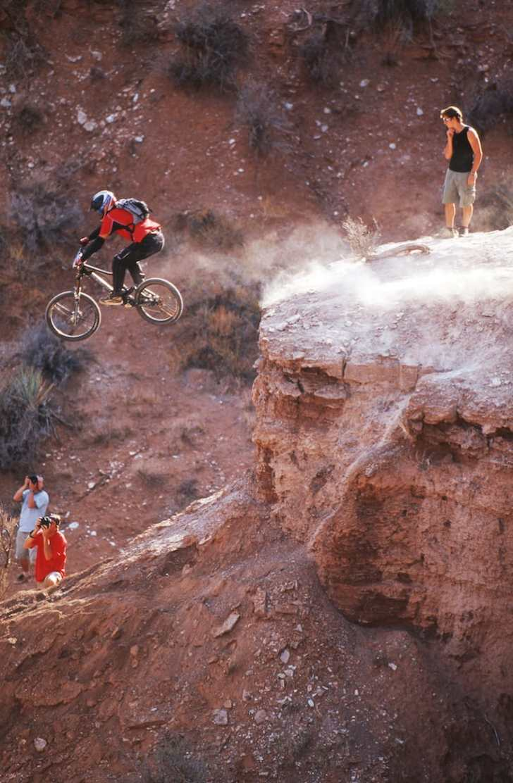 Brett Tippie mountain biking at Red Bull Rampage
