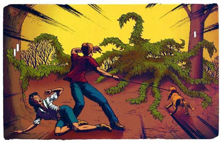 Invasive species illustration