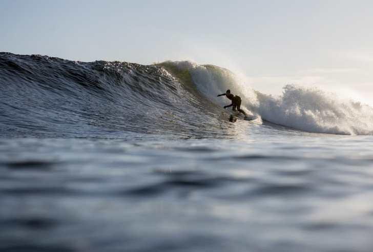 Mathea Olin Surfing In British Columbia